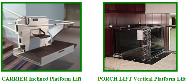 The PORCH LIFT Vertical Platform Lift Is Designed To Transport Wheel Chairs  And Handicap Occupants Vertically From One Landing To The Next.